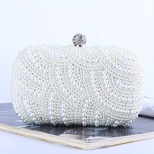 Soirée Blanc Size Mariage Embrayage La Discothèque Blanc Taille Yyzcl Sac Clutch Free Superbe Fête Bag Evening De Perle couleur Pour Femme wROHqX4