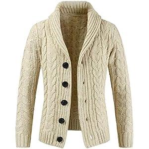 omniscient Mens Shawl Collar Longline Cardigan Draped Open Front Sweater