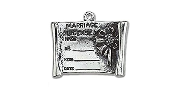 Sterling Silver Girls .8mm Box Chain 3D Opened Rolled Marriage License Pendant Necklace
