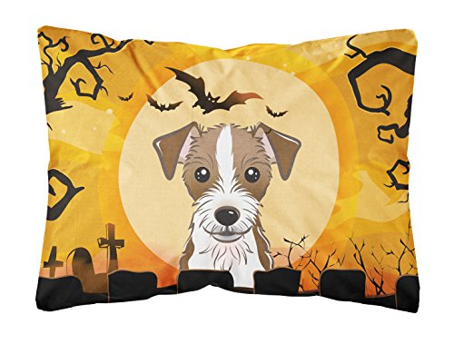 Caroline's Treasures BB1760PW1216 Halloween Jack Russell Terrier Fabric Decorative Pillow, 12H x16W, -