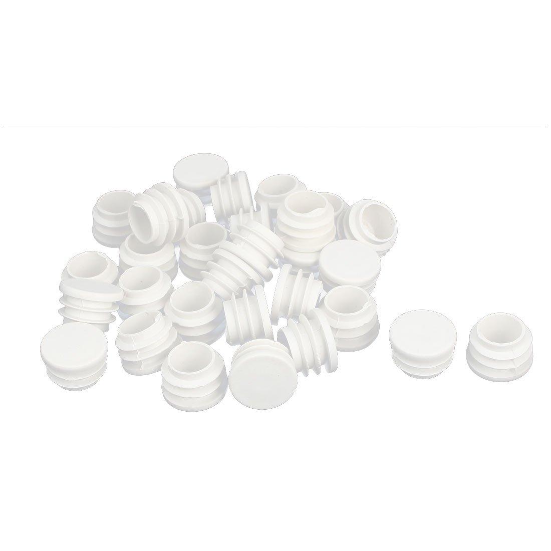Sourcingmap® - Tapón Redondo de plástico de 25 mm de diámetro, 30 Unidades, Color Blanco a16061100ux0165