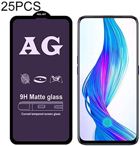 ZYS Screen Protector 25 PCS AG Matte Anti Blue Light Full Cover Tempered Glass for Oppo Reno