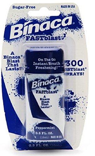 (Binaca Fast Blast Breath Spray PepperMint 0.50 oz)