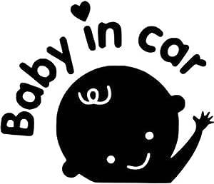 ملصقات سيارة ثلاثية الأبعاد من الفينيل العاكس تصميم طفل في السيارة التدفئة طفل على اللوحة الخلفية الزجاج الأمامي