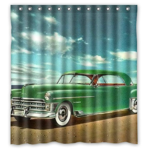 MOISTUREPROOF Personalized custom Classic Cars Waterproof Polyester Fabric Bathroom Shower blackout curtain 66