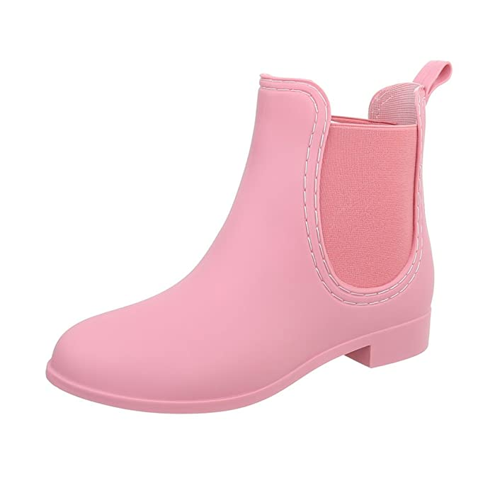 Ital-Design Gummistiefeletten Gummi Damenschuhe Gummistiefel Blockabsatz  Stiefeletten: Amazon.de: Schuhe & Handtaschen
