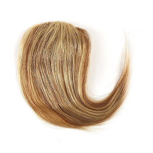 Rosette Hair 100% Human Hair Bun/Scrunchie/Side-Swept Extension Curly Hair Piece Wig (12/613-Blonde, Hair Side-Swept)