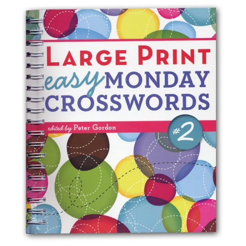 Large Print Easy Monday Crosswords - Number 2