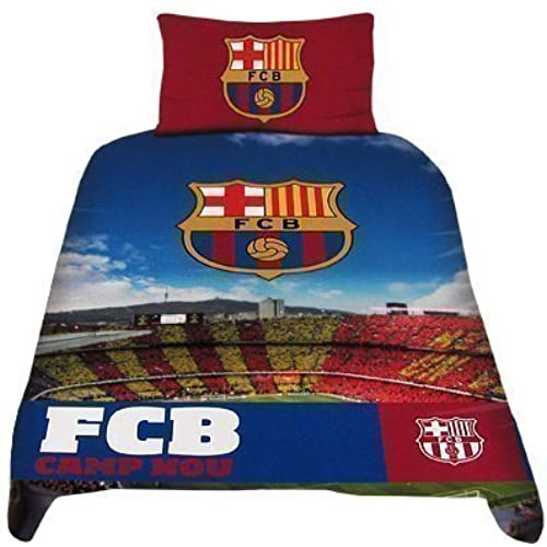 Barcelona F.C. Official Stadium Duvet Set - A Great Gift / Present For Men, Boys, Sons, Husbands, Dads, Boyfriends Sales