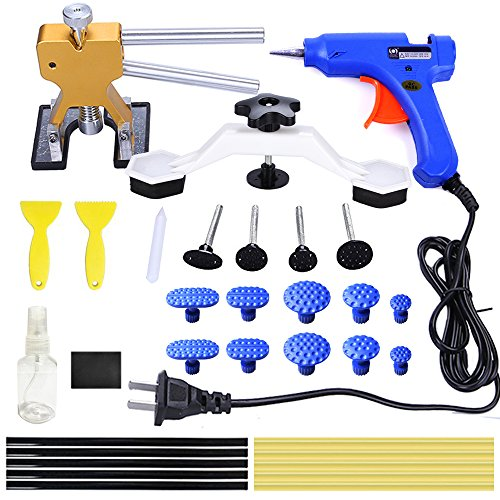 y Paintless Dent Removal Tools Kit Glue Gun Dent Lifter Bridge Puller Set For Car Hail Damage And Door Dings Repair ()