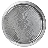 BarCraft Stainless Steel Hammered Tray