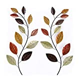 Adeco Tree Branch Leaves Metal Wall Decor Home Kitchen Bedroom (Tree III)