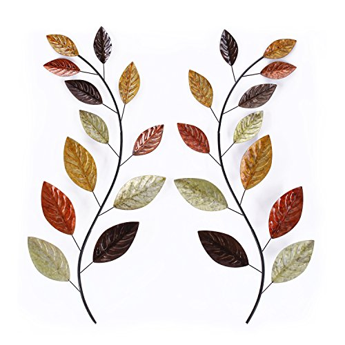 (Adeco Tree Branch Leaves Metal Wall Decor Home Kitchen Bedroom (Tree)