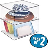 mDesign Plastic Closet Organizer Clothing Storage Box with Lid for Shirts Sweaters Pants -  sc 1 st  Amazon.com & Amazon.com: Invisibox The Clear Collapsabe Storage Solution for hat ...