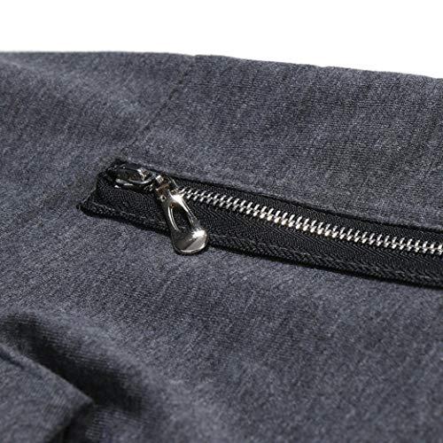 Zipper Taille Chic Manches Top Tops Patchwork Hiver Mode Automne Sweat 3xl Blouse Sweatshirt Pure Hommes Manchette Gris Adeshop À M Couleur Foncé Slim Longues Capuche Outwear C7fv1fq