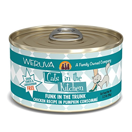 Weruva Cats In The Kitchen, Funk In The Trunk With Chicken In Pumpkin Consomme Cat Food, 3.2Oz Can (Pack Of ()