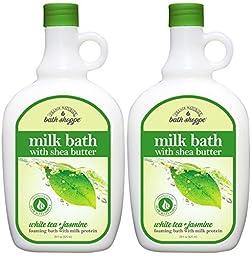 Bath Shoppe White Tea Milk Bath 28 fl oz (2 Pack)