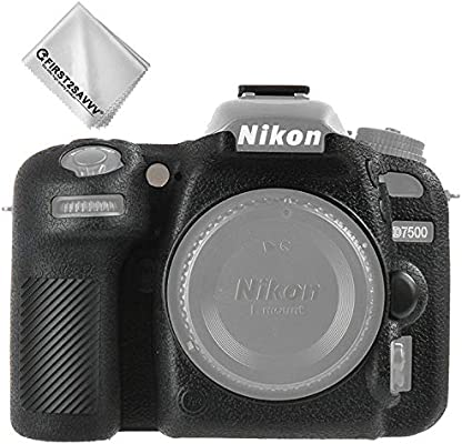 Cuerpo Completo Caucho de TPU Funda Estuche Silicona con Textura Fina para cámara para Nikon D500: Amazon.es: Electrónica