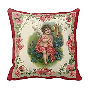 Victorian Outdoor Pillows : Amazon.com: Vintage Victorian Valentine S Day, Cherub On Phone Home Throw Pillow Case Pillow ...