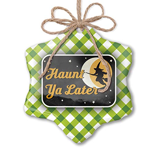 NEONBLOND Christmas Ornament Haunt Ya Later Halloween Witch Green -