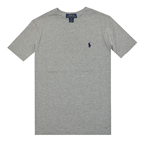 Polo Ralph Lauren Boys Short Sleeve Crew neck Logo Tee (XL(18-20), Andover heather) - Ralph Lauren Polo Shirts Kids
