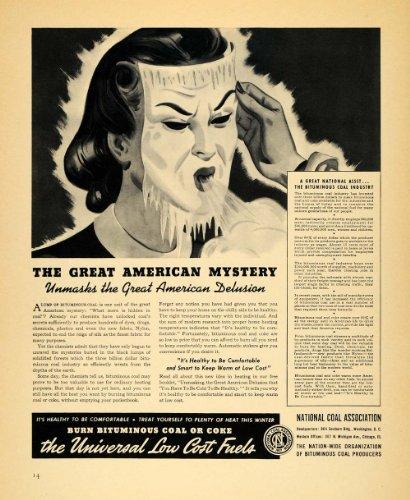 1940 Ad National Coal Association Product Heat Mask   Original Print Ad