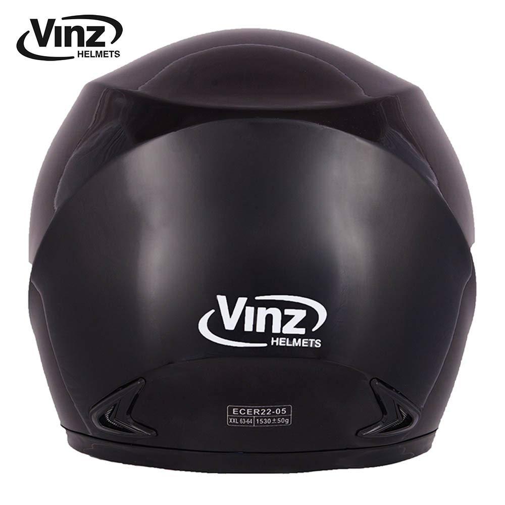 57-58 cm Integral Helm mit Visier XS-XL M Vinz Integralhelm//Rollerhelm Basic Motorradhelm in Gr , Wei/ß Schwarz