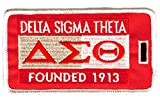 Delta Sigma Theta Founding Year Embroidered Luggage Tag