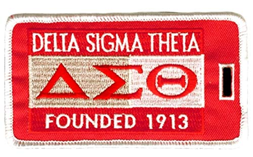 Delta Sigma Theta Founding Year Embroidered Luggage Tag ()