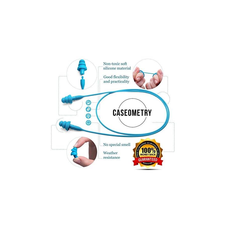 Caseometry Luxury 3D Sleep Mask + Earplugs Random Color Prime Quality Soft Breathable Comfortable Eyemask Black for Travel And Home Eye Shade