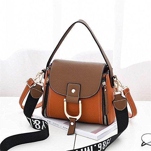 SJMMBB Lady'S Handbag Slanted Abarca,Claret,23X20X11Cm. Amarillo