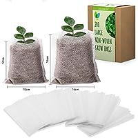 Bolsas biodegradables de Tela no Tejida para viveros, Bolsas Natural para Cultivo compostables y Bolsas de Maceta para…