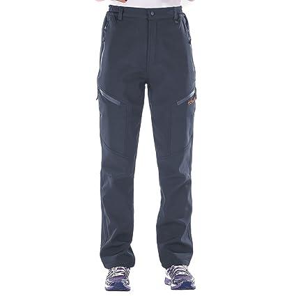 bda7e0b1734 Nonwe Women s Warm Water-Resistant Workouts Fleece Snow Pants Gray  XS 30.5 quot  ...