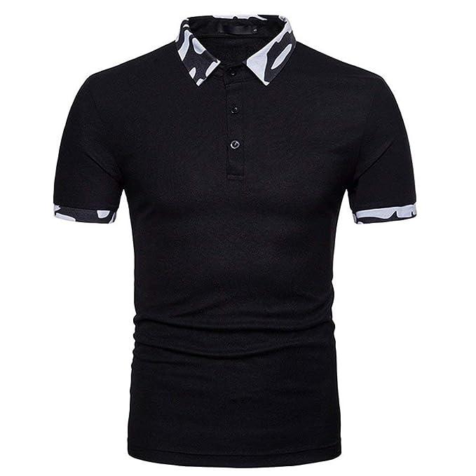 BOLAWOO Camisa De Polo para Hombre Camuflaje De Verano Mode De ...