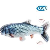 Electric Fish Cat USB Electric Plush Fish Kicker Cat Toy Interactivo Cat Toy simulación Realista muñeca pez