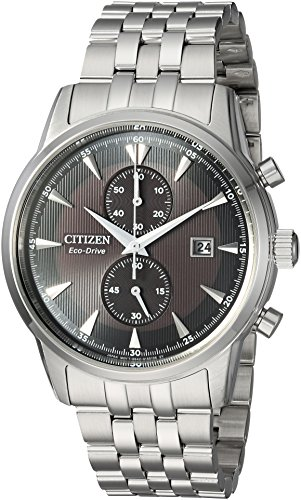 Citizen Men's 'Eco-Drive' Quartz Stainless Steel Dress Watch, Color:Silver-Toned (Model: CA7000-55E) (55e Watch)