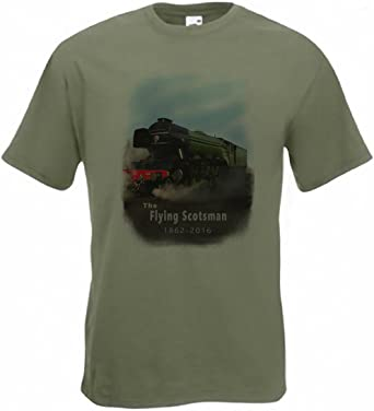 Steam Trains, Railway, London, Edinburgh /'LNER A3 Flying Scotsman/' T-Shirt