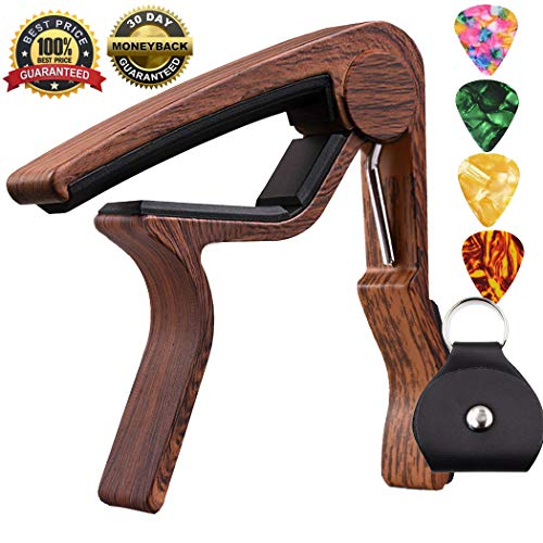- Capo Guitar Capo-Quick Change Trigger Capo for 6-String Acoustic & Electric Guita and Ukulele