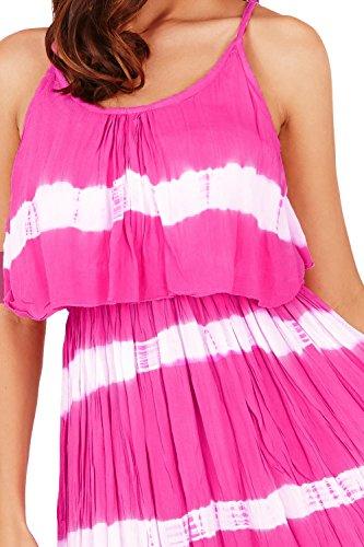 Pistachio - Vestido - para mujer Blanco Rosa