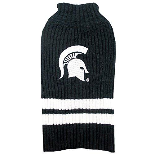 Michigan State University Knitted Turtleneck Pet Sweater (X-Small)