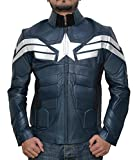 Mens Captain America Superhero Jacket - Marvel Winter Soldier Jacket | Winter Soldier, L