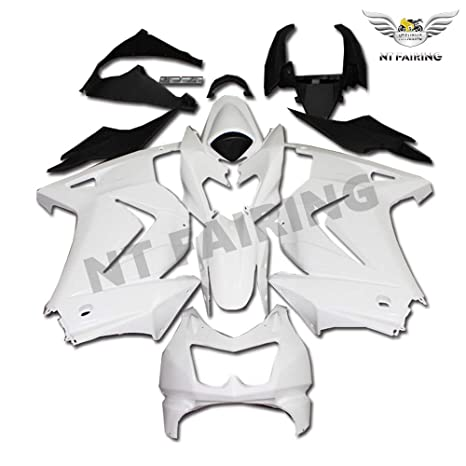 NT FAIRING Fit for Kawasaki Ninja 2008-2012 EX250 250R Injection Mold Fairing Kit Unpainted Bodywork Plastic Bodyframe 2009 2010 2011 08 09 10 11 12