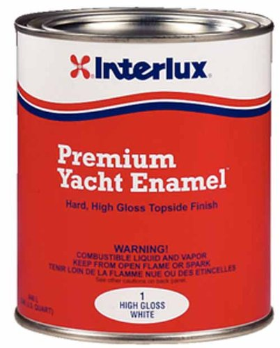 Interlux Yacht Enamel Motor boat Paint, High Intensity Gloss White, QT Y1/QT