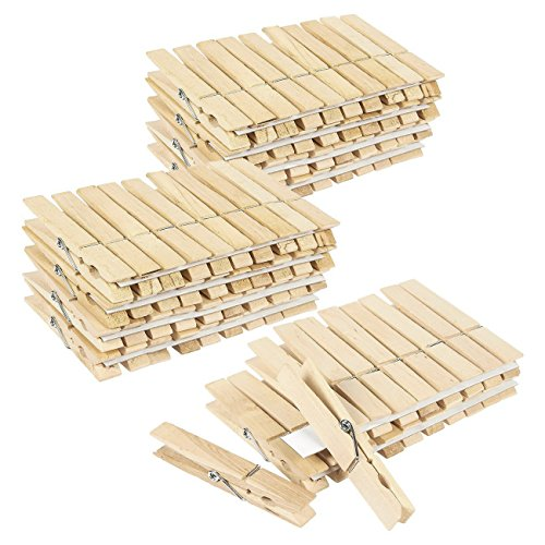 (Juvale 100 Pack - Wooden Clothespins - Large Clothes Pegs Laundry, Arts, Crafts, Decoration, 4 x .5 x .5)
