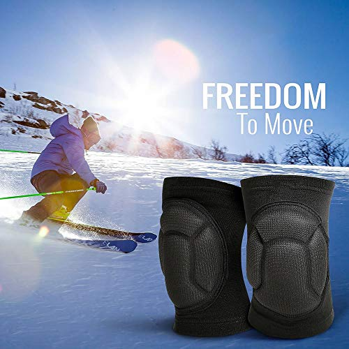 TY BEI Kneepad Kneepad - Protective Knee Pads, Thick Sponge Anti-Slip, Collision Avoidance Knee Sleeve @@ (Color : Black) by TY BEI (Image #4)