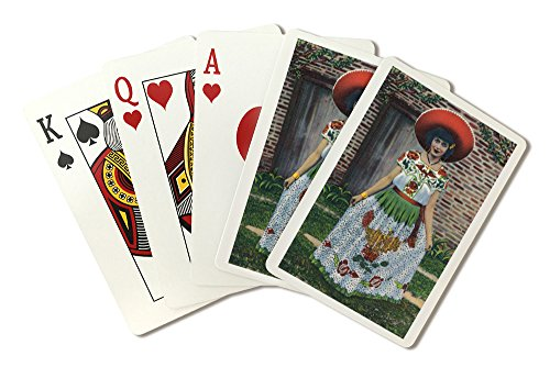 [New Mexico - Lovely Woman in a Chinese Poblano Costume (Playing Card Deck - 52 Card Poker Size with Jokers)] (The Joker New 52 Costume)