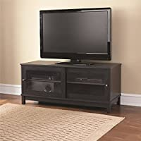 Mainstays TV Stand for TVs up to 55, Multiple Finishes With 4 Bays And 2 Adjustable Shelves Black