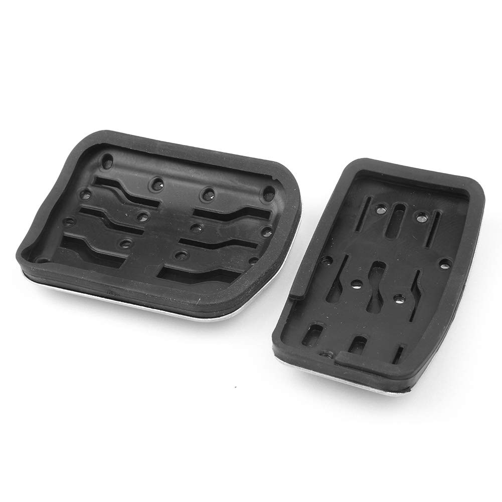 GZYF Aluminum /& Rubber Fuel Accelerate Brake Footrest Pedal Pad Cover Fits Ford F150 2011-2014