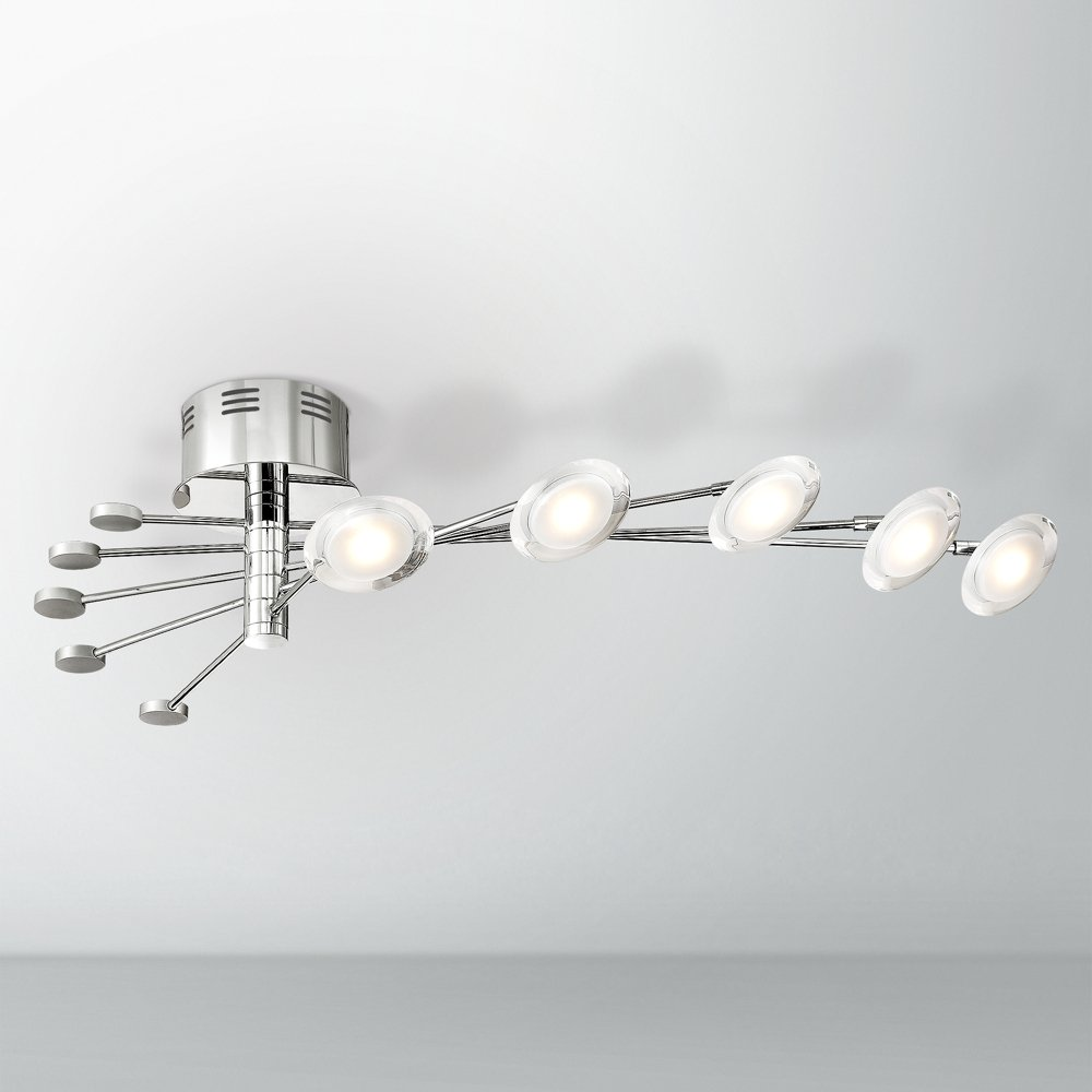 Cressida 36 14 wide adjustable chrome led ceiling light amazon aloadofball Choice Image