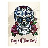 """Day of the Dead Outdoor Garden Mini Yard Decoration Flag 13"""" x 18.5"""""""